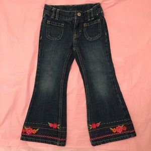 Gymboree Girls Size 4 Slim Jeans with Flared Leg